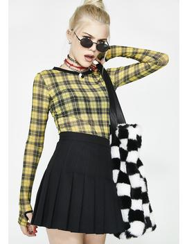 Riot Girl Plaid Mesh Top by Current Mood