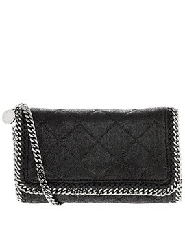 Stella Mc Cartney Women's Soft Quilted Faux Leather Chain Shoulder Bag Black by Stella Mc Cartney