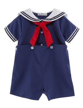 Baby Boys 3 24 Months Sailor Suit Shortall by Petit Ami