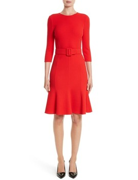 Crepe Fit & Flare Dress by Oscar De La Renta
