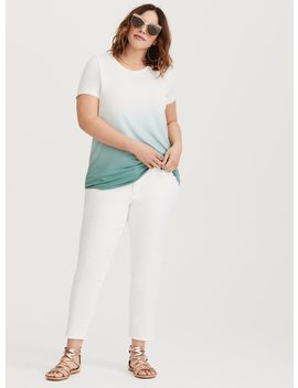 Super Soft Green Dip Dye Tee by Torrid