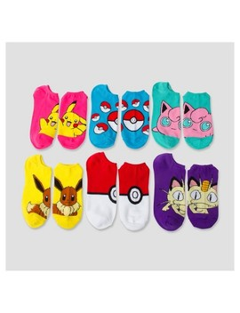 Women's 6 Pk No Show   Pokemon 9 11 by Pokemon