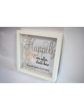 Happily Ever After Starts Here, Crystal Frame, Word Art Pictures, Quotes, Sayings, Home Décor by Etsy