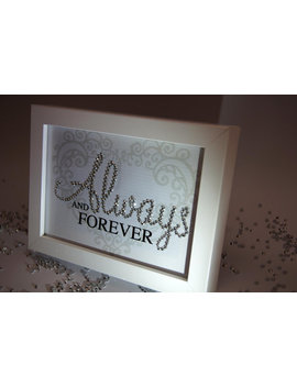 Always And Forever Sparkle Word Art Pictures, Quotes, Sayings, Home Decor by Etsy