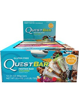 Quest Nutrition Protein Bar, Birthday Cake, 21g Protein, 5g Net Carbs, 180 Cals, 2.1oz Bar, 12 Count, High Protein, Low Carb, Gluten Free, Soy Free by Quest Nutrition