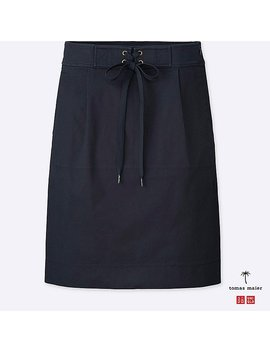 Women Tomas Maier Chino Skirt by Uniqlo