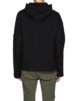 Distorted Arm Cotton Terry Hoodie by Helmut Lang