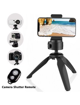 Heavy Duty Tripod, U Beesize Phone And Camera Tabletop Mini Tripod With Cell Phone Clip Holder For I Phone, Smartphones, Gopro, Webcams, Compact Cameras And Dsl Rs by Automated