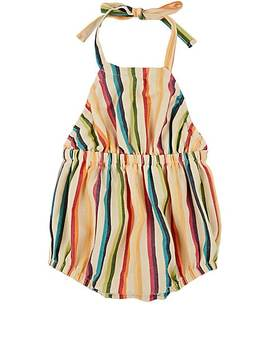 Infants' Striped Cotton Bubble Romper by Anthem Of The Ants