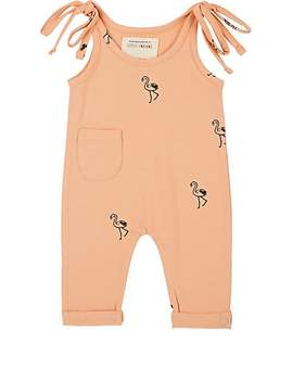 Infants' Flamingo Print Jersey Playsuit by Little Indians