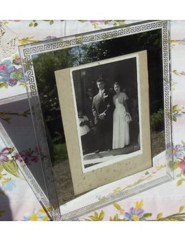 Vintage French Glass Mirror Photo Frame Art Deco Picture Frame by Etsy