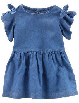 Split Shoulder Denim Dress by Carter's
