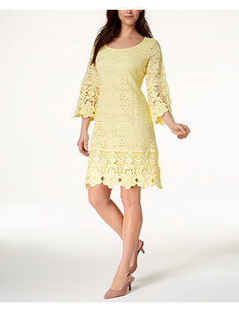 Crochet Trim Illusion Dress, Created For Macy's by Alfani