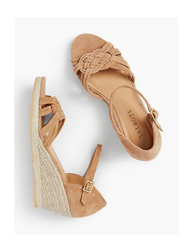 Lyndsay Woven Espadrille Wedges   Kid Suede by Talbots