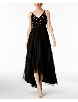 Petite Pleated High Low Gown by Adrianna Papell