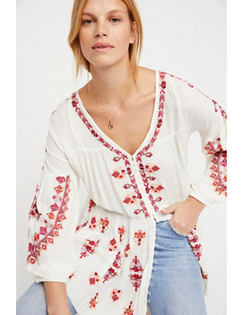 The Arianna Embroidered Tunic by Free People