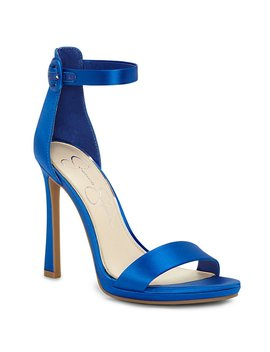 Plemy Satin Ankle Strap Dress Sandals by Jessica Simpson