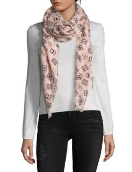 Postage Stamp Scarf by Karl Lagerfeld Paris