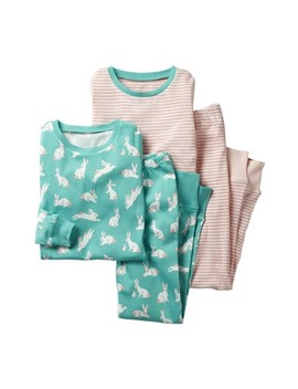 Two Pack Fitted Two Piece Pajamas by Mini Boden