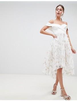 Vestido De Graduación Con Diseño Floral En 3 D Premium De Asos Design by Asos