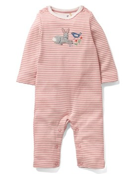 Farmyard Appliqué Organic Cotton Romper by Mini Boden