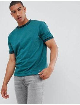 Boss Twixt Tipping T Shirt In Dark Green by Boss