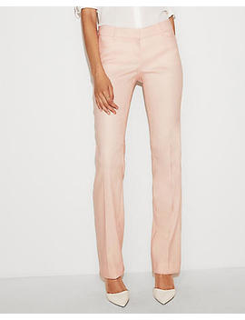Low Rise Linen Blend Barely Boot Columnist Pant by Express