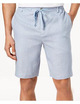 Men's Drawstring Linen Shorts, Created For Macy's by Tasso Elba