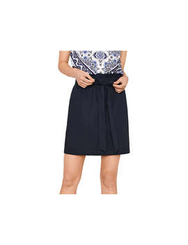 Oasis Paper Bag Skirt, Navy by Oasis