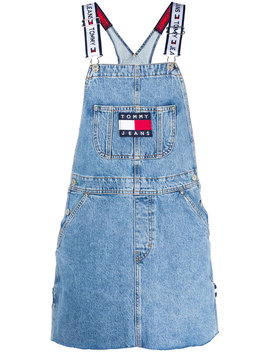 Dungarees Style Dress Home Donne Abbigliamento Vestiti Da Giorno Sailing Gear Hoodiedungarees Style Dress by Tommy Jeans