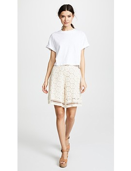 Ornamental Lace Shorts by See By Chloe