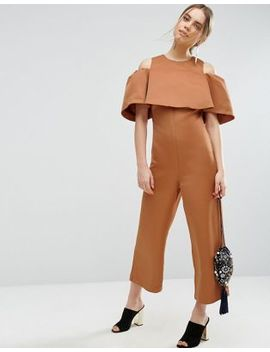 Asos Bonded Off Shoulder Jumpsuit by Asos Collection
