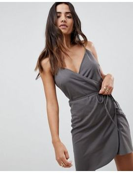 Asos Linen Wrap Side Mini Sundress by Asos Design