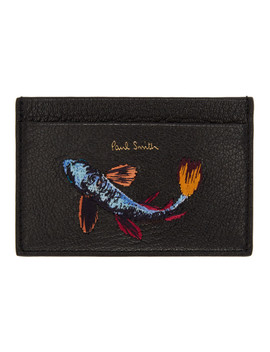 Black Koi Fish Card Holder by Paul Smith