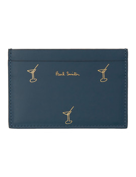 Blue Doodles Card Holder by Paul Smith