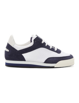 Navy & White Pitch Low Sneakers by Comme Des GarÇons Shirt
