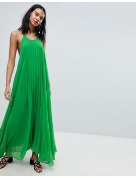 Missguided Pleated Low Back Maxi Dress by Missguided