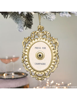 Press For Champagne Christmas Ornament/Bottle Charm by Etsy