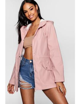 Olivia Pu Coated Festival Mac by Boohoo