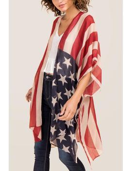 Bexley American Flag Ruana by Francesca's