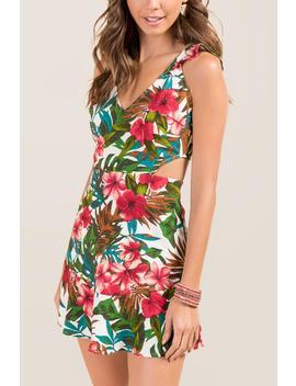 Harlow Trop A Line Cutout Dress by Francesca's