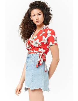 Floral Self Tie Wrap Top by Forever 21