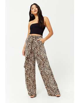 Cheetah Paperbag Pants by Forever 21