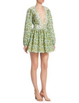 Golden Plisse A Line Mini Dress by Zimmermann