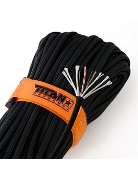 Titan Survivor Cord | 100 Feet | Patented Military Type Iii 550 Paracord/Parachute Cord (3/16 Diameter) With Integrated Fishing Line, Fire Starter, And Snare Wire. Free Paracord Projects E Book. by Titan Paracord