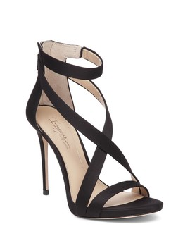 Women's Devin Satin High Heel Ankle Strap Sandals by Imagine Vince Camuto