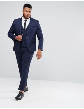 Asos Plus Skinny Suit Jacket In Navy by Asos