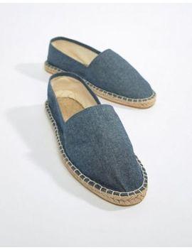 Asos Design Espadrilles In Blue Chambray by Asos Design