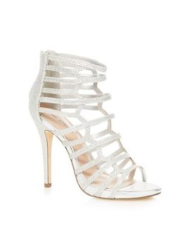Call It Spring   Silver 'astausien' High Stiletto Heel Gladiator Sandals by Call It Spring