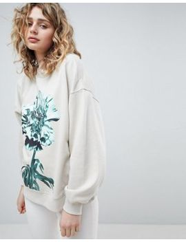 Weekday – Sweatshirt Mit Oversize Print by Weekday